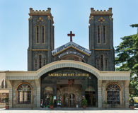 Front of Sacred Heart Church in Bengaluru. Royalty Free Stock Images