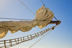 Front Of Sailing Yacht Royalty Free Stock Image