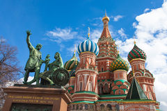 Front of Saint basil cathedral Stock Image