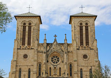 Front of San Fernando Cathedral. San Fernando Cathedral of San Antonio, Texas Stock Images
