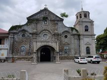 Front of San Juan church in Batangas city, Philippines royalty free stock photos