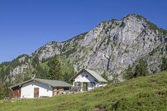 Front Scharnitzalm in Benediktenwand-Bereich Lizenzfreies Stockbild
