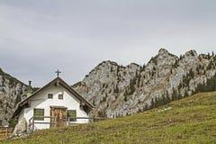 Front Scharnitzalm südlich Benediktenwand Lizenzfreies Stockbild