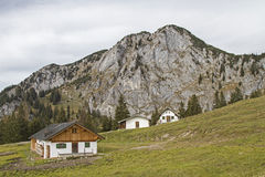 Front Scharnitzalm südlich Benediktenwand Stockfotografie