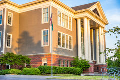 Front of school building stock photography
