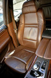 Front seat inside luxury car Royalty Free Stock Photo