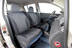 Front seats in car Stock Photo