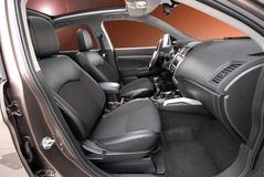 Front seats in passinger car Royalty Free Stock Photos