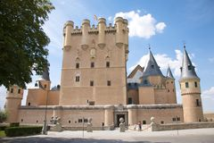 Front of segovia castle Royalty Free Stock Images
