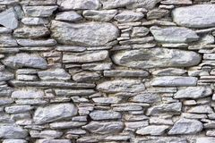Front shoot of white colored masonry stone wall made by turkish wall craftsman royalty free stock images