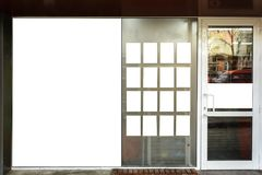 Front shop with blank space for your advertising. stock images