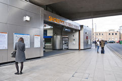 Front of Shoreditch station in London Royalty Free Stock Photos