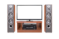 Front shot of home cinema system Stock Photo
