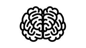 Front side brain icon animation