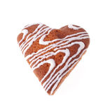 The Front Side of the Cake in Heart Shape Stock Images