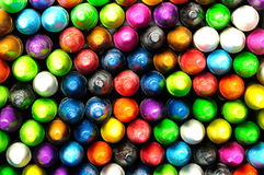 Front side of colored crayon Royalty Free Stock Photography