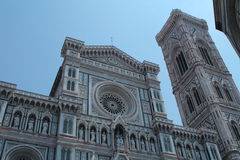 Front side of the duomo in Florence Royalty Free Stock Photo