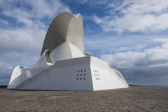 Front and side face of Concert Hall of Calatrava Stock Image