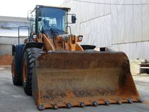 Front side of Loader Royalty Free Stock Image