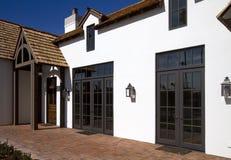 Front side of new modern desert home Stock Image