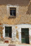 Front side of an old house in spain Royalty Free Stock Photography