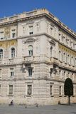 Front and side paintings in the prefecture of Trieste in Friuli Venezia Giulia Italy Stock Images