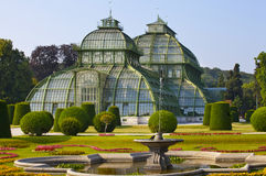 Front side of palm house  in Vienna Royalty Free Stock Images