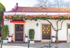 Front side of a portuguese ground floor house Stock Photo