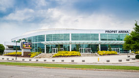 Front side of Propst Arena in downtown Huntsville, AL Stock Photos