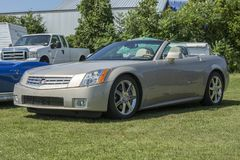 Cadillac xlr. Front side view of cadillac xlr convertible in display during the john scotti all out 17-19 june 2016 Stock Photos