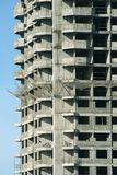 Front and side view of construction building part. Over clear blue sky vertical view stock image