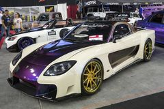 Custom import car. Front side view of custom import car in display during the autorama montreal september 16-17 2017 Stock Image