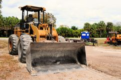 Front side view of loader Royalty Free Stock Photo