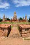 Front side of Wat chaiwattanaram with b Royalty Free Stock Image