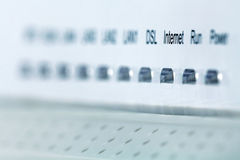 Front side of the wireless router Royalty Free Stock Images