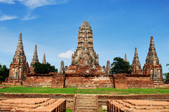 Front size of Wat chaiwattanaram Royalty Free Stock Photo