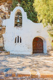 Front of small Greek orthodox chapel Royalty Free Stock Images