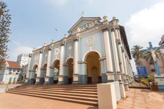 Front of St. Aloysius Chapel in old Rome style, build in 1878 by Jesuits Stock Image