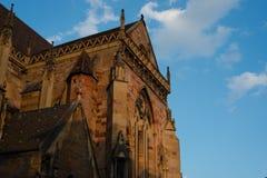 St Martin Church Colmar Blue Sky stock photos