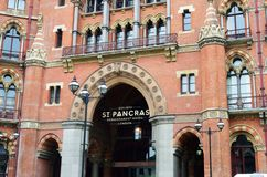 Front of St Pancras Hotel  London Stock Images