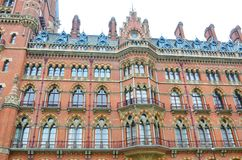 Front of St Pancras Station Royalty Free Stock Photos