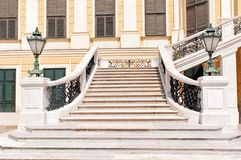 The front staircase of Schonbrunn palace in Vienna Stock Photography