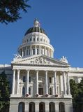 California`s State Capital Building in Sacramento. Front of the State Capital Building of California, in the city of Sacramento royalty free stock photography