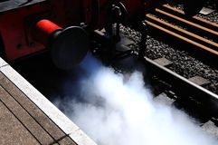 Front of Steam Train. Stock Photos