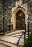 Front steps of a church in Hanover, Pennsylvania. Stock Photos