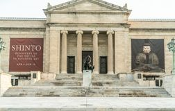 On The Front Steps Of The Cleveland Museum Of Art royalty free stock image