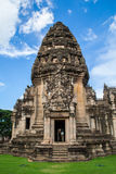 Front of Stone Castle in Phimai Historical Park Royalty Free Stock Photo