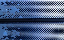 front of storage server stock image