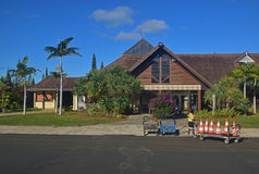 Front straight view of Small Airport of Ile Des Pins Island, New Caledonia Royalty Free Stock Photography