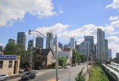 Front Street West, Toronto do centro, Ontário, Canadá Foto de Stock Royalty Free